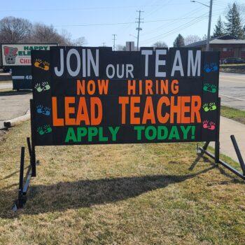 Portable Sign Rental for Teacher Hiring